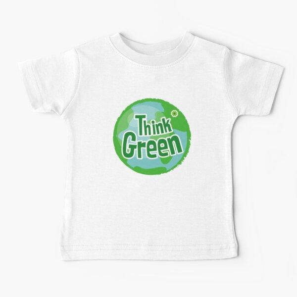 Think Green Awareness 2: cita feliz Camiseta para bebés