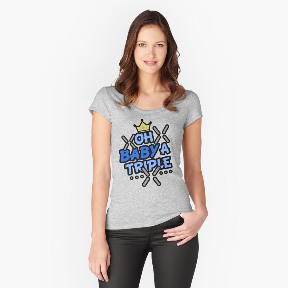 OH BABY A TRIPLE Camiseta entallada de cuello ancho
