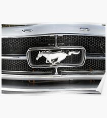 Ford Mustang Grille Badge Poster
