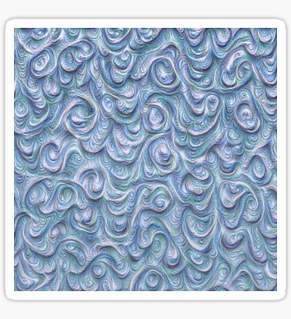 Surface texture #DeepDream #Art Blue Sticker