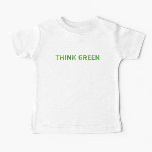 Piensa Conciencia Verde Horiz - Cita feliz Camiseta para bebés