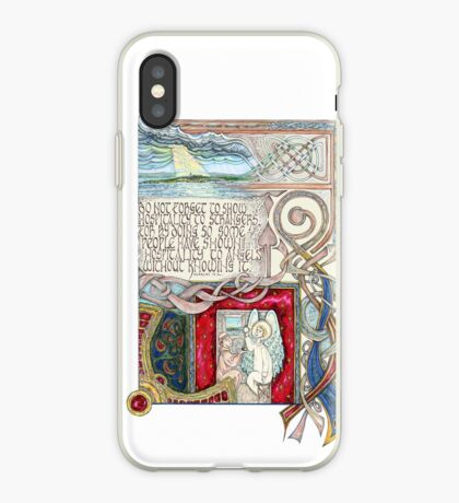 Hospitality to Angels iPhone Case