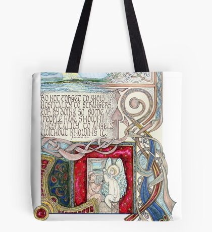 Hospitality to Angels Tote Bag