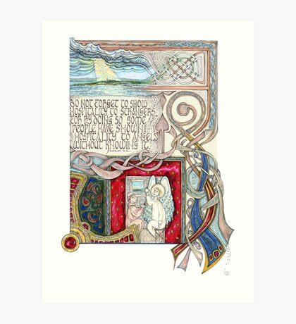 Hospitality to Angels Art Print