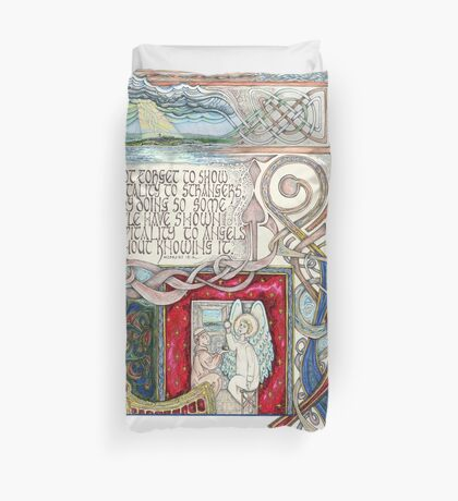 Hospitality to Angels Duvet Cover