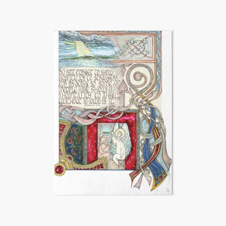 Hospitality to Angels Art Board Print