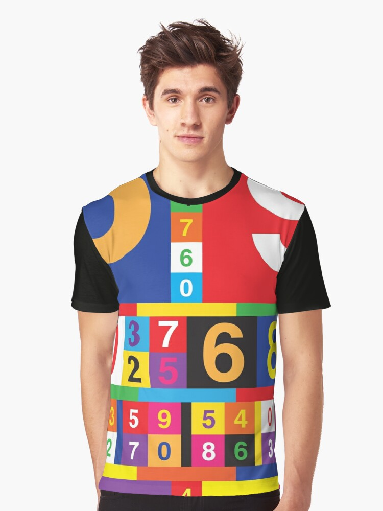 Coloured Numbers Graphic T-Shirt Front