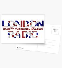 British Invasion - London Radio (Flag) Postcards