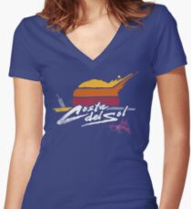 Costa Del Sol Women's Fitted V-Neck T-Shirt