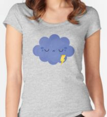 frustrated cloud Women's Fitted Scoop T-Shirt