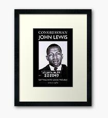 jhon lewis american hero Framed Print