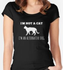 Hilarious Alternate Dog Tee Women's Fitted Scoop T-Shirt