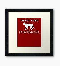 Hilarious Alternate Dog Tee Framed Print