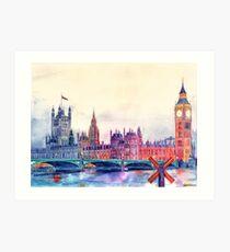 Sunset in London Art Print