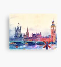 Sunset in London Canvas Print
