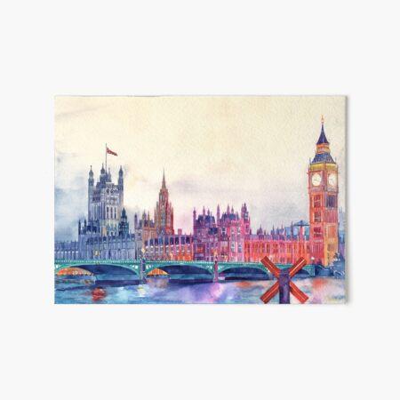 Sunset in London Art Board Print