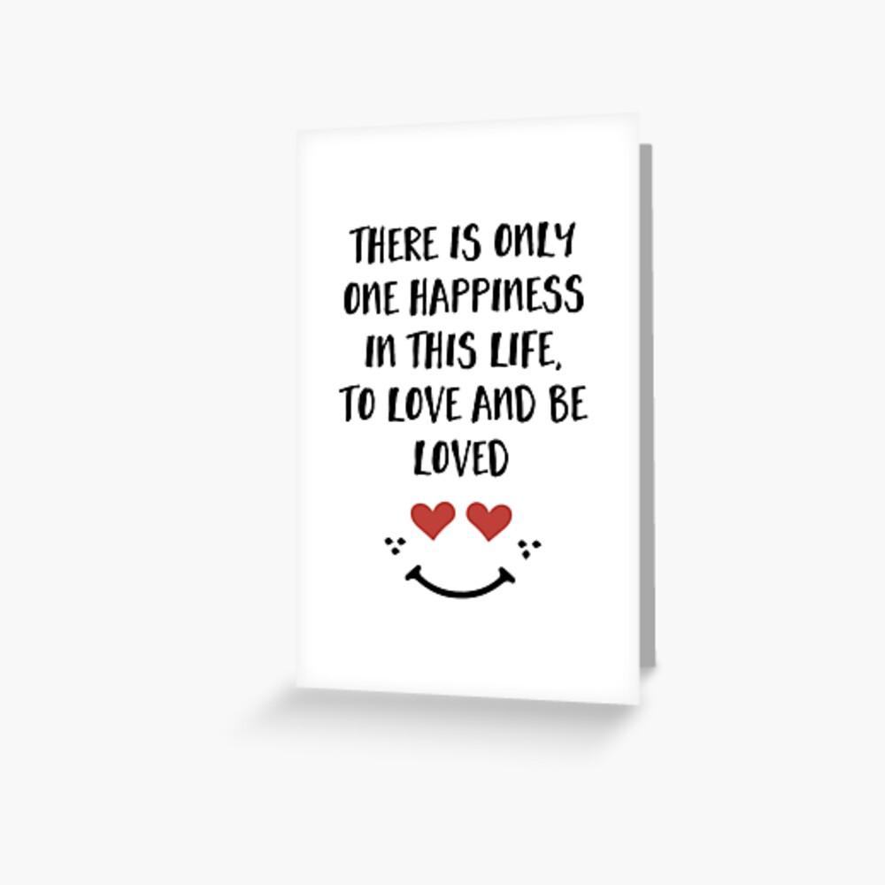 Lieben und geliebt werden - Glück Valentinstag Zitat Grußkarte