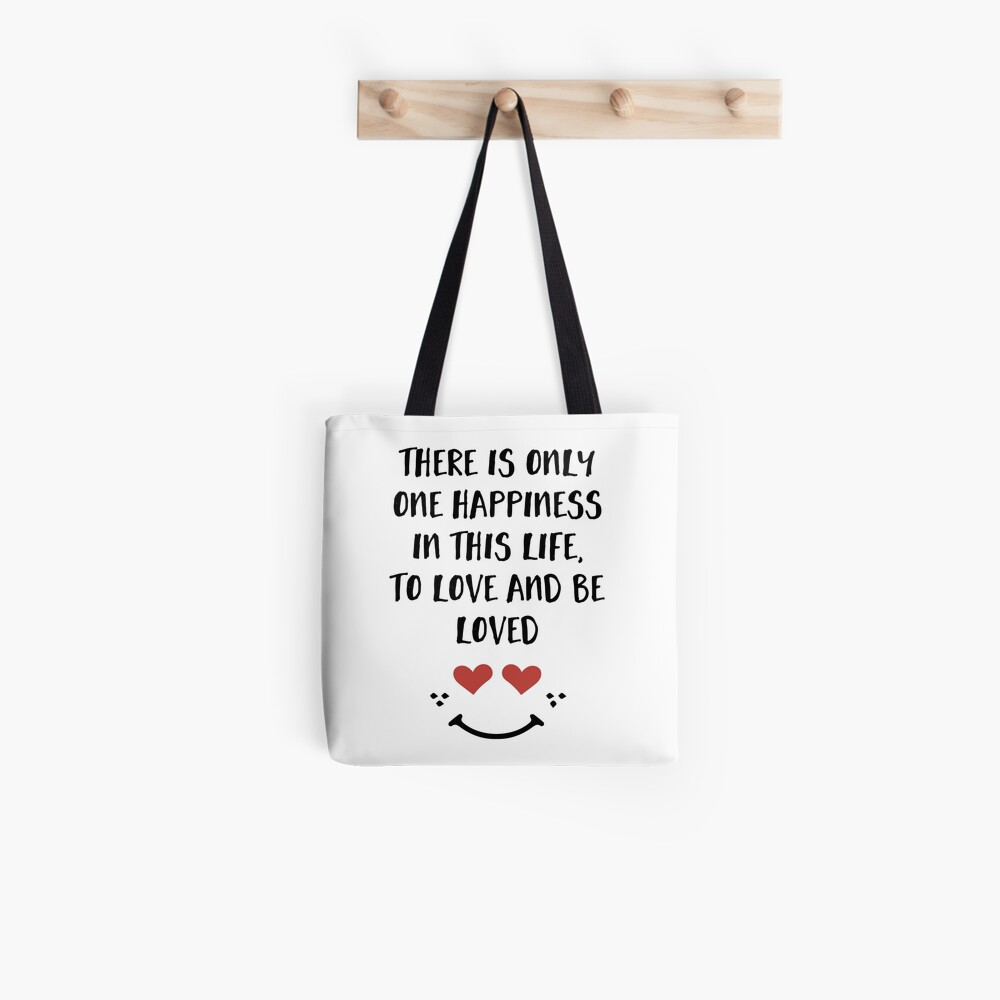 Lieben und geliebt werden - Glück Valentinstag Zitat Tote Bag