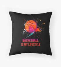 Basketball is my lifestyle Throw Pillow