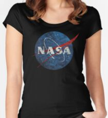 NASA Vintage Emblem Women's Fitted Scoop T-Shirt