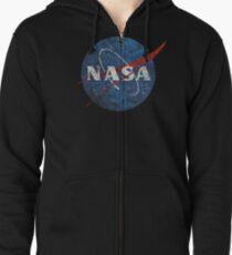 NASA Vintage Emblem Zipped Hoodie