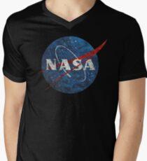 NASA Vintage Emblem Men's V-Neck T-Shirt