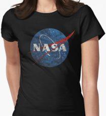 NASA Vintage Emblem Tailliertes T-Shirt für Frauen