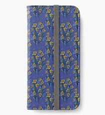 Daffodil dreaming in blue iPhone Wallet/Case/Skin