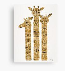 Giraffes – Sepia Palette Canvas Print
