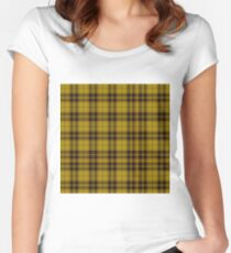 TARTAN-YELLOW  Women's Fitted Scoop T-Shirt