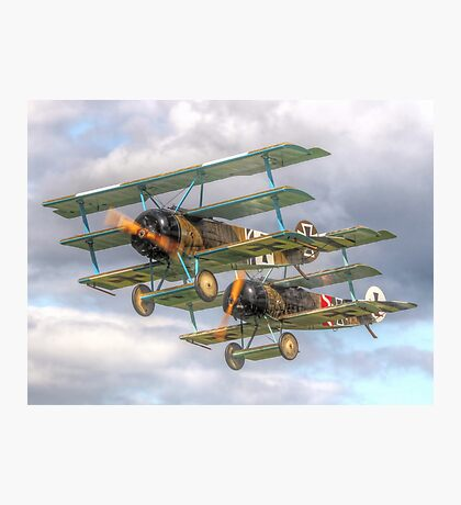 Two Little Fokkers - HDR - Dunsfold 2014 Photographic Print