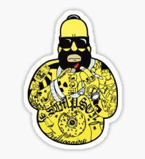 Homer Thug Life Sticker