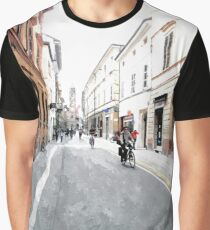 Street view with cyclist Graphic T-Shirt