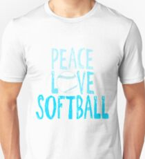 Peace, Love, Softball- softball t shirts T-Shirt