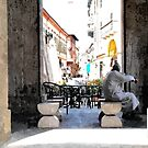 Street view with Arab by Giuseppe Cocco