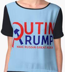 Putin Trump Make Russia Great Again Chiffon Top