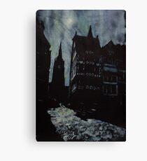 Moonlit Cathedral- Frankfurt, Germany Canvas Print
