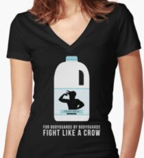 Fight Milk - Fight Like a Crow Women's Fitted V-Neck T-Shirt
