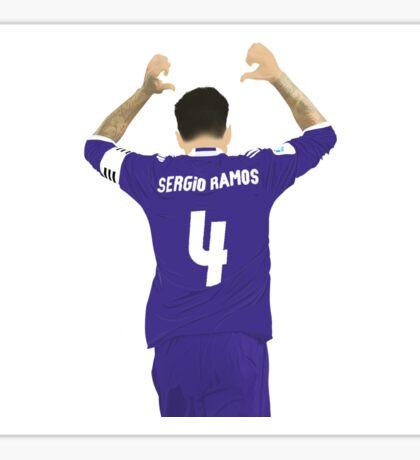 Sergio Ramos Minimalist Art Sticker