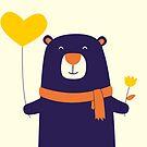 Purple Bear is Here by cartoonbeing