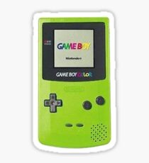 Nintendo Gameboy Color Lime Green Sticker