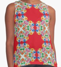 Abstract Needle Point Floral Contrast Tank