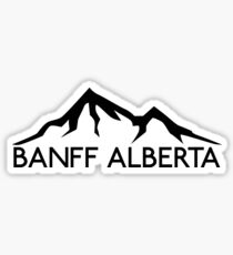 BANFF ALBERTA CANADA Skiing Ski Mountain Mountains Snowboard Boating Hiking 2 Sticker