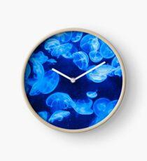 Blue Jellyfish Clock