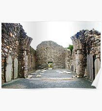 Ruins of the Cathedral of St. Peter and St. Paul in Glendalough Poster