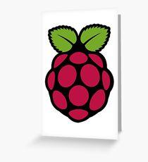 Raspberry Pi Logo Greeting Card