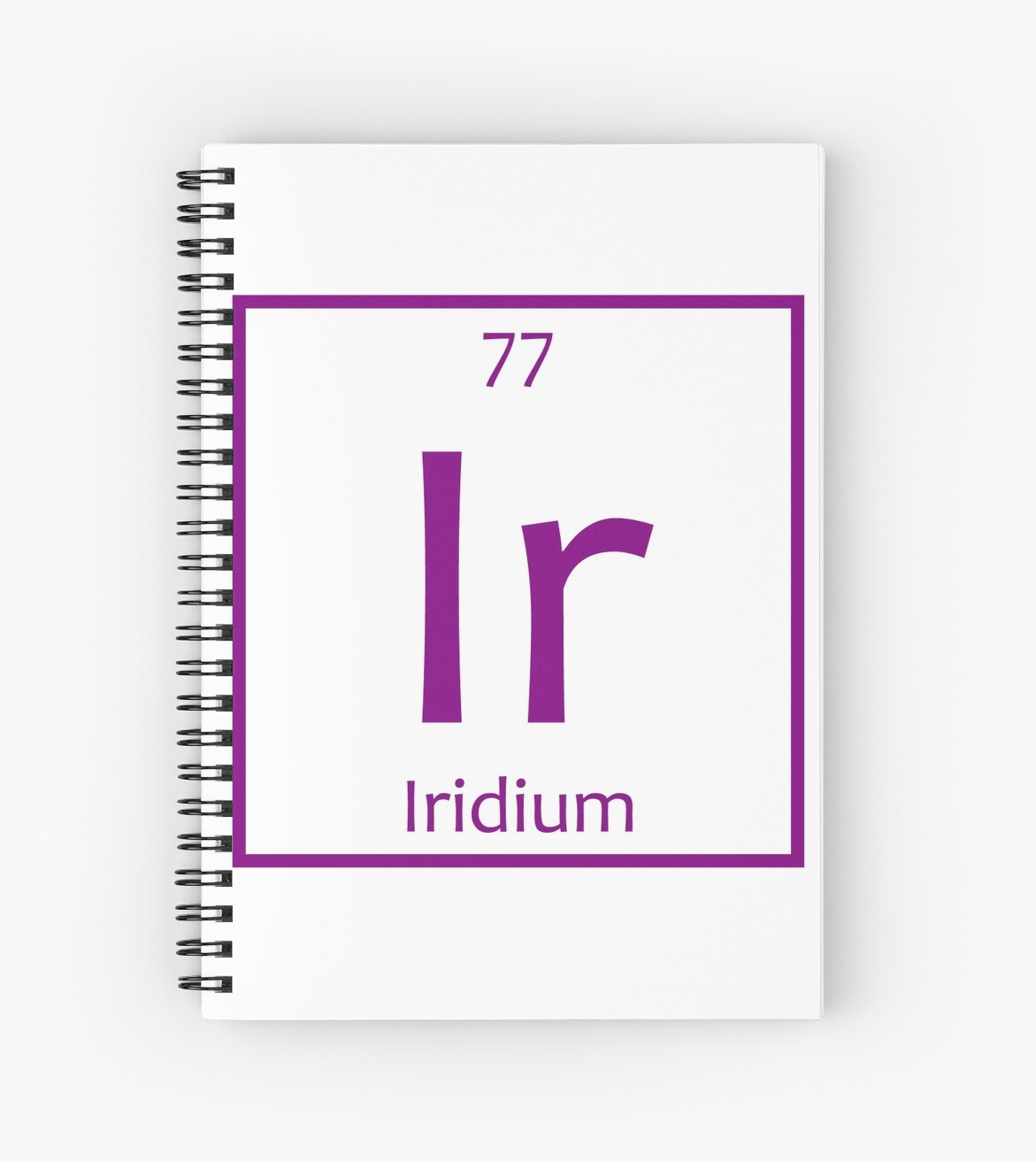 Iridium Ir Chemical Symbol Spiral Notebooks By The Elements