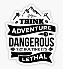 Adventure Badge Sticker