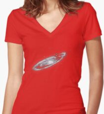 You Are Here - Milky way Women's Fitted V-Neck T-Shirt