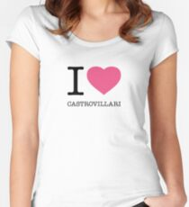 I ♥ CASTROVILLARI Women's Fitted Scoop T-Shirt